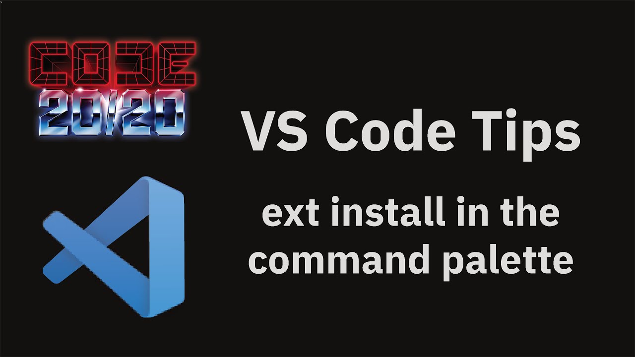 ext install in the command palette