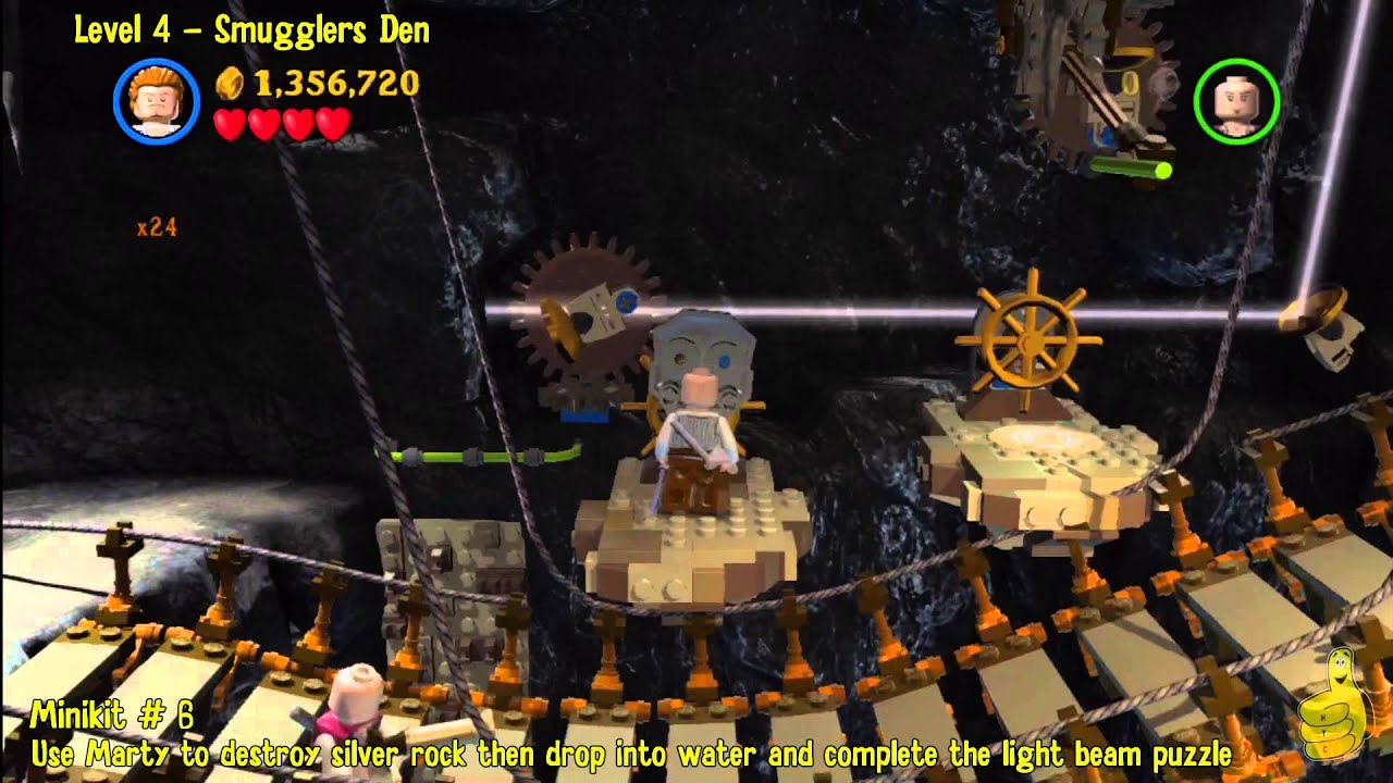 Lego Pirates of the Caribbean: Level 4 Smugglers Den - FREE PLAY (Minikits & Compass Items) - HT