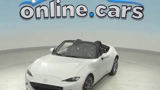 A99044TA Used 2016 Mazda Miata Grand Touring Convertible White Test Drive, Review, For Sale