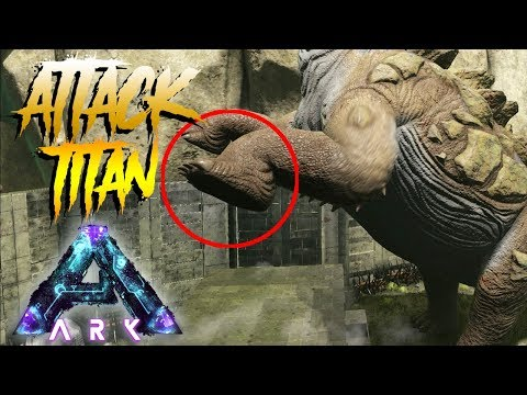 ATTACK ON TITANOSAURUS! BIG BASE RAID DESTROY! - ARK SURVIVAL EVOLVED ABERRATION