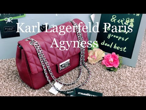 Karl Lagerfeld Paris ☜UNBOXING☞ Agyness Quilted Leather Shoulder Bag / Red