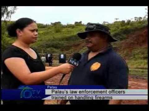 Palau's law enforcement trained on firearms