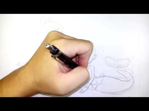 วาดรูป การ์ตูน นางเงือก กับ พระอภัยมณี สไตล์ มายลิตเติ้ลโพนี่ วาดการ์ตูน กันเถอะ EP01