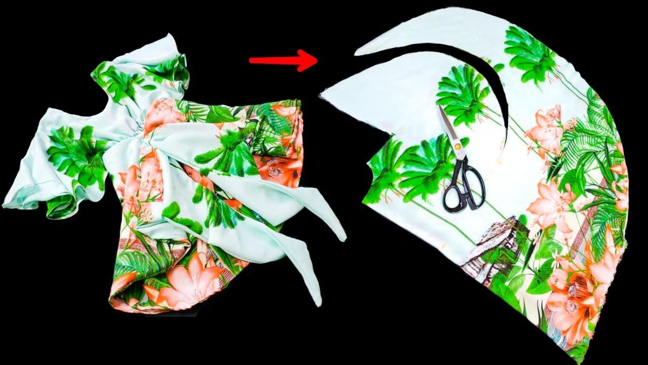 فكرة مذهلة لخياطة فستان بطريقة بسيطة جدآ l أحدث خياطة فستان طفلة بكل بساطة