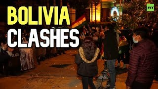 Protesters clash with police in Bolivia