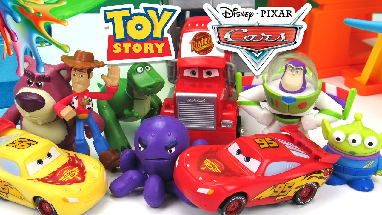TOY STORY+CARS COLOR SPLASH COLOR CHANGERS BUZZ LIGHTYEAR,LIGHTNING ...
