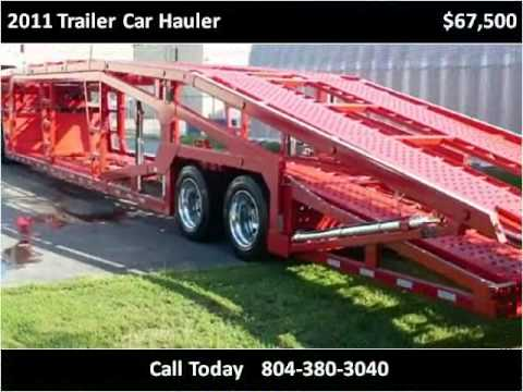 2011 trailer car hauler used cars richmond va youtube. Black Bedroom Furniture Sets. Home Design Ideas