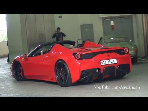 ferrari 458 speciale aperta - loud capristo exhaust + acceleration