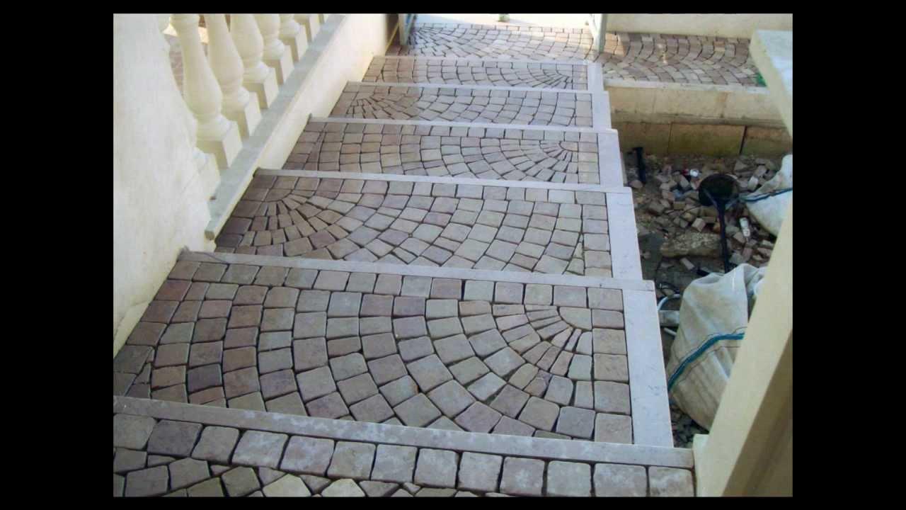 Plm pavimenti per esterni in pietra sampietrini in mosaico in