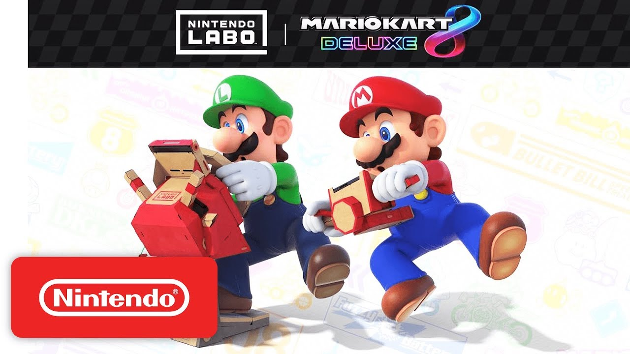 nintendo labo vehicle kit mario kart 8 deluxe youtube