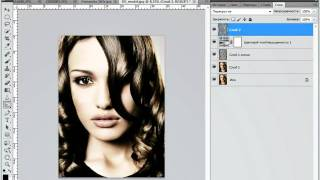 гламурный портрет в Photoshop CS5