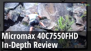 Micromax 40C7550FHD 40 Inch Full HD LED TV Review Pros & Cons