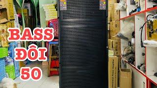Bass đôi 50 hàng khủng | Loa karaoke di động công suất lớn | Loa kéo 5 tấc đôi - Bose 5050