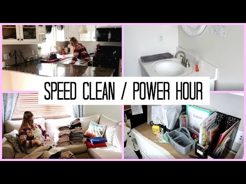 POWER HOUR / Clean With Me/ Speed Cleaning