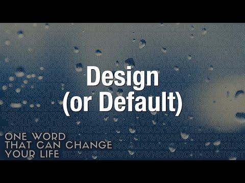 Design (or Default) - Pastor Juanita Rasmus