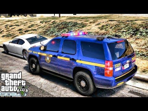GTA 5 MODS LSPDFR 0.4.1 - NYSP TAHOE PATROL!!! (GTA 5 REAL LIFE PC MOD) thumbnail