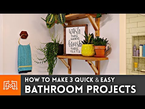 how-to-make-3-easy-bathroom-projects-//-woodworking