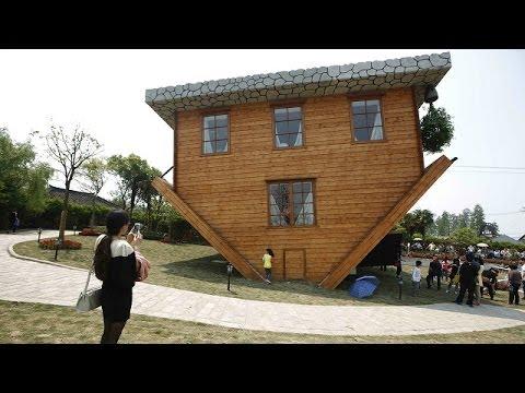 Una casa boca abajo abre sus puertas en China BBC MUNDO