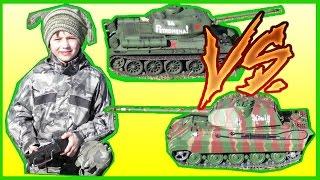 Танковый Бой Радиоуправляемые Танки(Радиоуправляемые танки Т-34-85 и Тигр II фирмы Heng Long встретились друг с другом. T-34-85 против Тигра II / T-34-85 vs Tiger..., 2016-04-13T11:55:39.000Z)