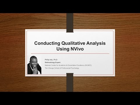 Conducting Qualitative Analysis Using NVivo 11 (Part1) by Ph