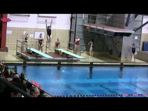 1-m Diving Final 2011 Women's Ivy Champs