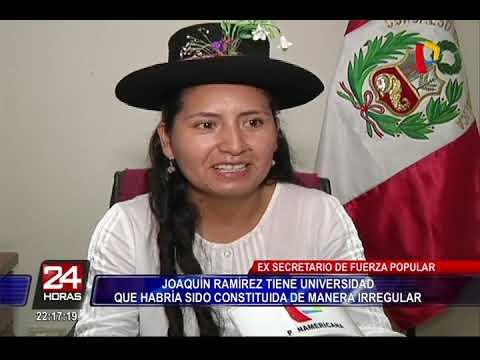 Señalan que Joaquín Ramírez habría constituido una universidad de forma irregular