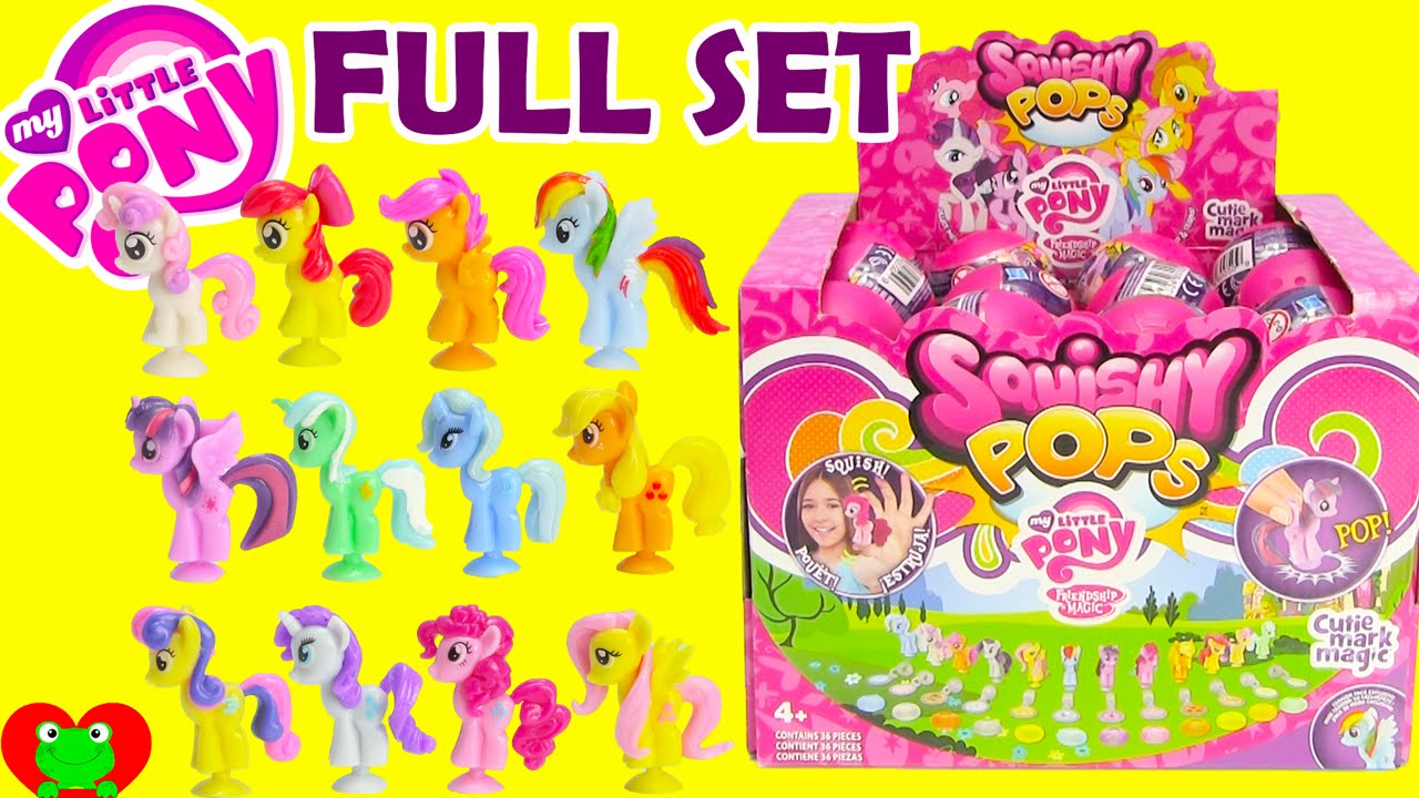 Squishy Pops At Toys R Us : My Little Pony Squishy Pops with Cutie Mark Crusaders FULL SET - YouTube