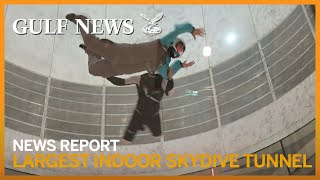 INDOOR SKYDIVING: The world's largest indoor skydive tunnel in Abu Dhabi