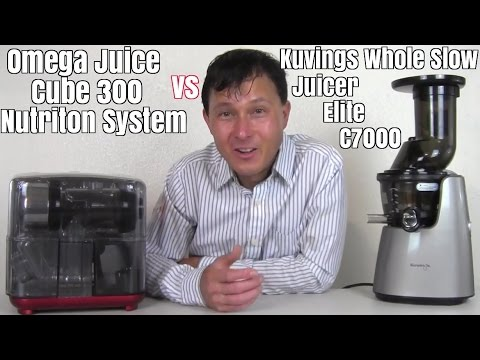 Kuvings Whole Slow Juicer Elite vs Omega Juice Cube Comparison Review - YouTube