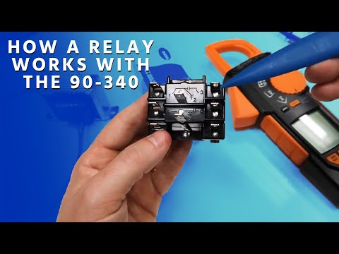 how a relay works with the 90 340 youtube Carrier HVAC Schematics