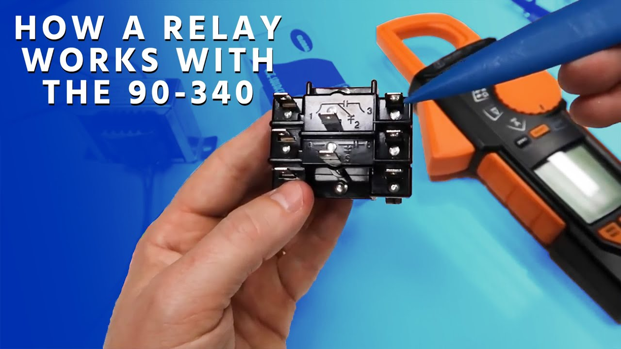 hight resolution of how a relay works with the 90 340 youtube 90 340 relay wiring diagram source 24 hvac blower