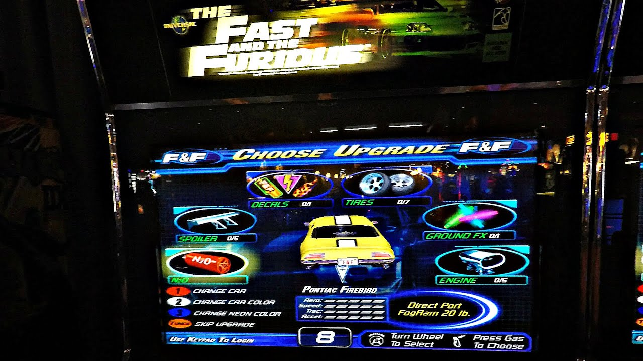The Fast And The Furious Arcade Game: Kids Challenge Each ... - photo#48