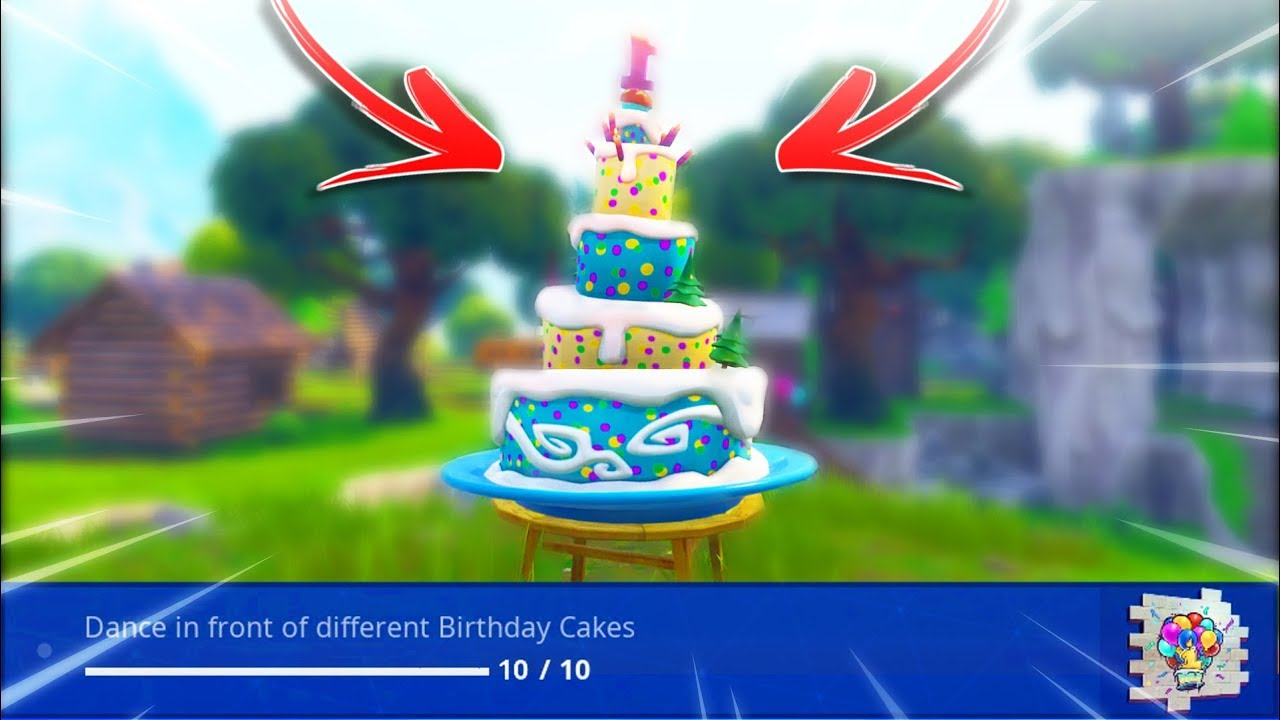 """Dance in front of different Birthday Cakes"" Locations ..."