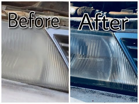 how to clean and wash car headlight step by step in 2018