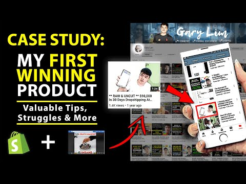 My first dropshipping winning product that generated $100,000++ REVEALED (Case Study) thumbnail