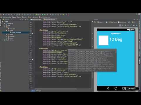 Android Studio Tutorial   80 Weather App