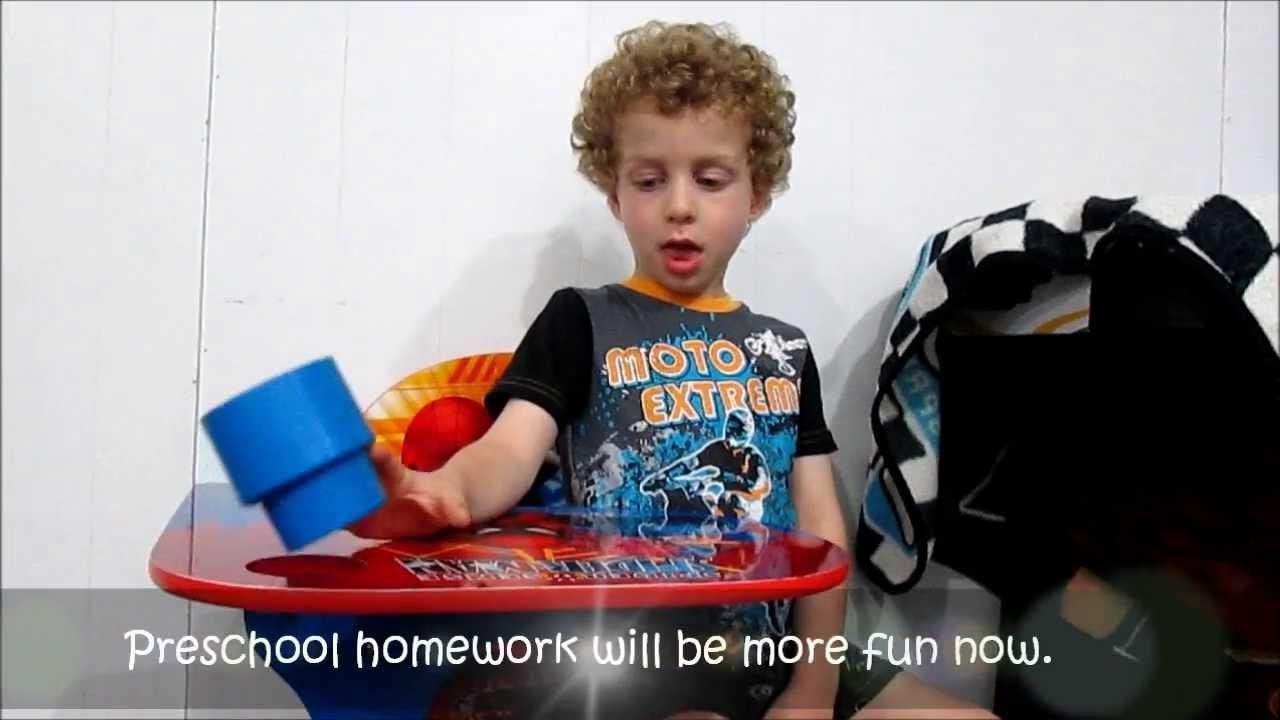 Delta Children Spiderman Chair Desk demo with 4 year old YouTube