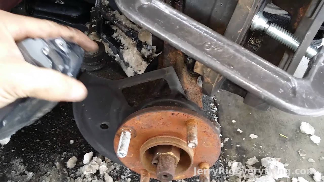 01 06 Nissan Sentra Brake Pad And Rotor Replacement Video