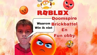 Roblox Doomspire Brickbattel and a fun obby do