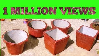 15 रूपये में बनाये सीमेंट का गमला # how to make cement pot at Home
