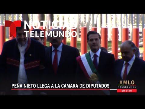 Llega el Presidente saliente Enrique Peña Nieto a San Lázaro para la toma de protesta de AMLO