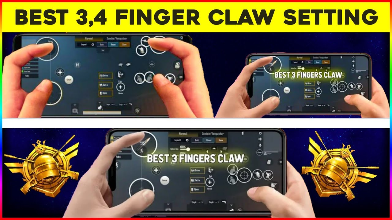 THIS MAKE YOU PRO - PUBG MOBILE ULTIMATE 3 FINGERS CLAW SETUP    Best 4 Fingers Claw Setting