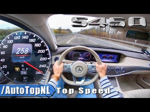 2019 Mercedes Benz S CLASS S450 AUTOBAHN POV 258km/h TOP SPEED by AutoTopNL