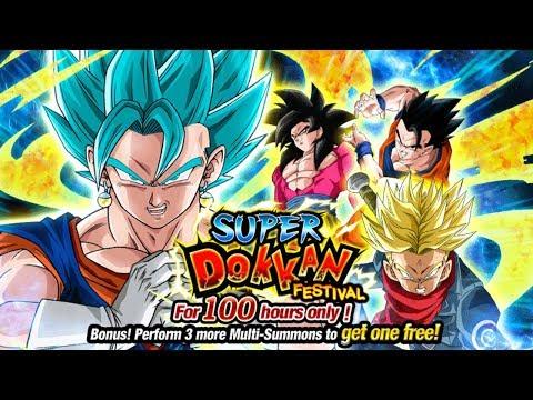 1265 STONES SUMMON! TEQ SUPER SAIYAN BLUE VEGITO DOKKAN FESTIVAL SUMMONS [GLOBAL] DBZ Dokkan Battle