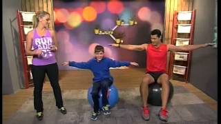 Fun-filled Kids Core Workout with Robyn Borowsky (5 June 2014)
