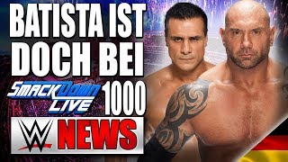 batista returns smackdown 1000
