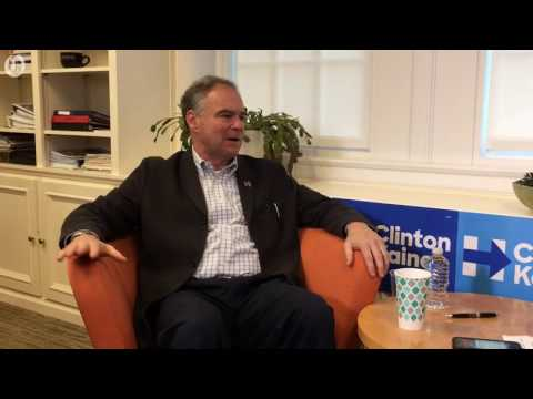 Democratic vice presidential candidate Tim Kaine interview