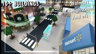 Roblox Bloxburg ? Ciudad de la ciudad de la ciudad de Walmart, Highschool > Speedbuild (1M+)