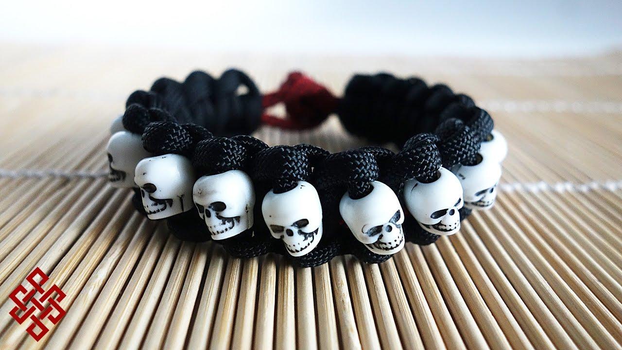 Skull Band Paracord Bracelet Tutorial Youtube
