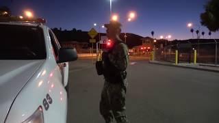 Awkward moments.  Los Angeles Navy Base